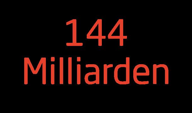 144 Milliarden