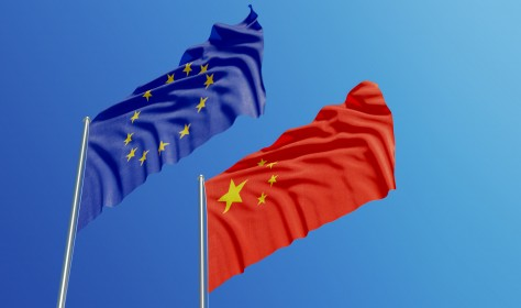 Flags China Europe