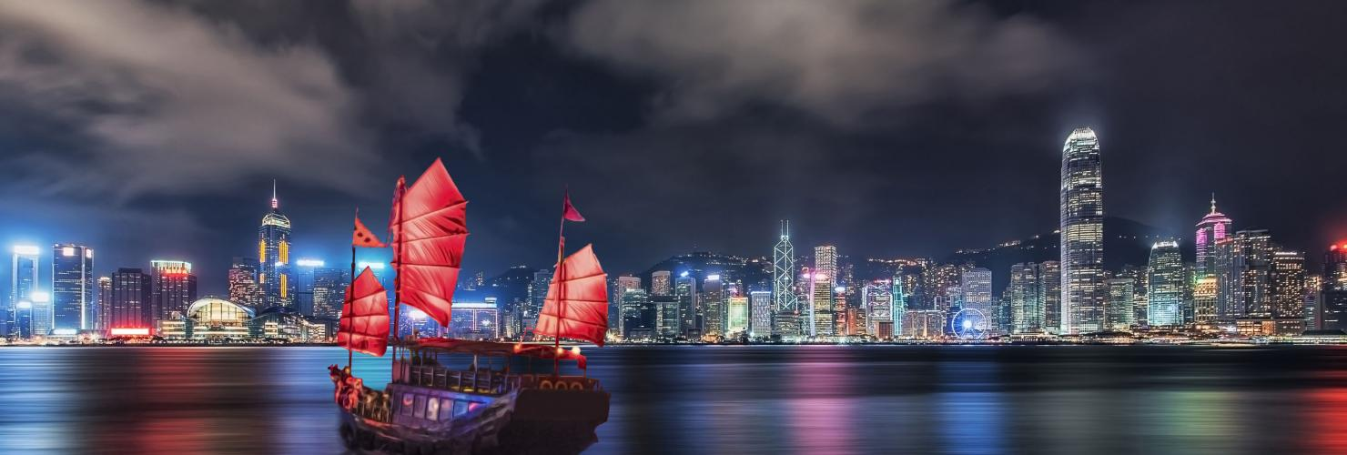 Hong Kong's skyline at night