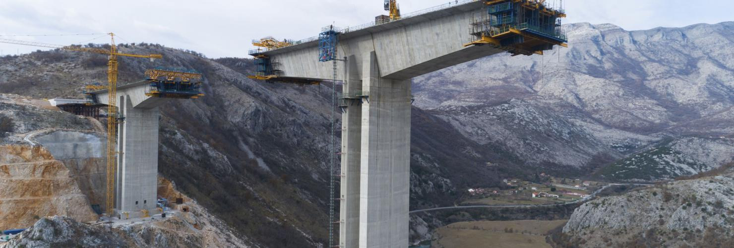 China's BRI on the ground: The Moraca bridge project in Montenegro is built and financed by China.