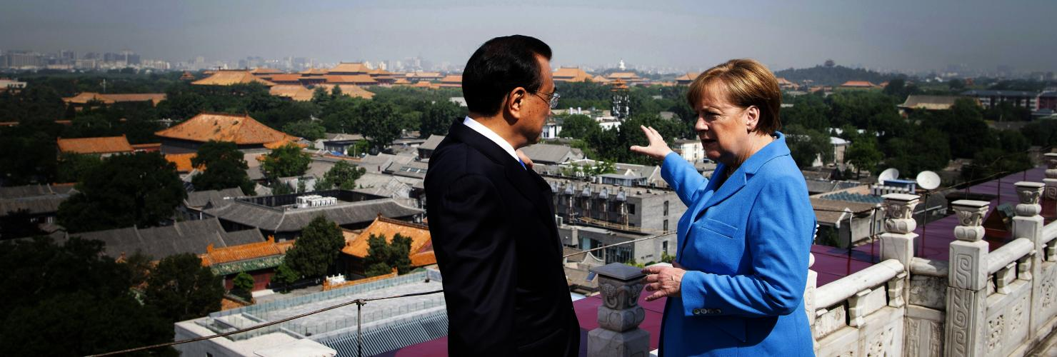 Chancellor Merkel and Chinese Premier Li Keqiang in Beijing in May 2018.