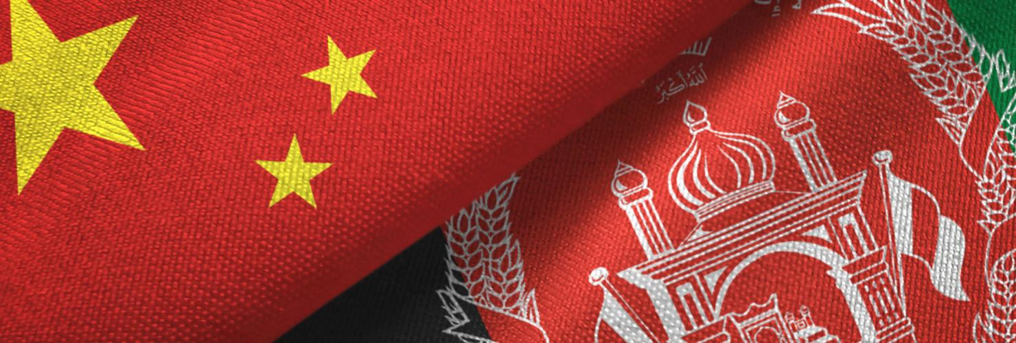 Flags of China and Afghanistan