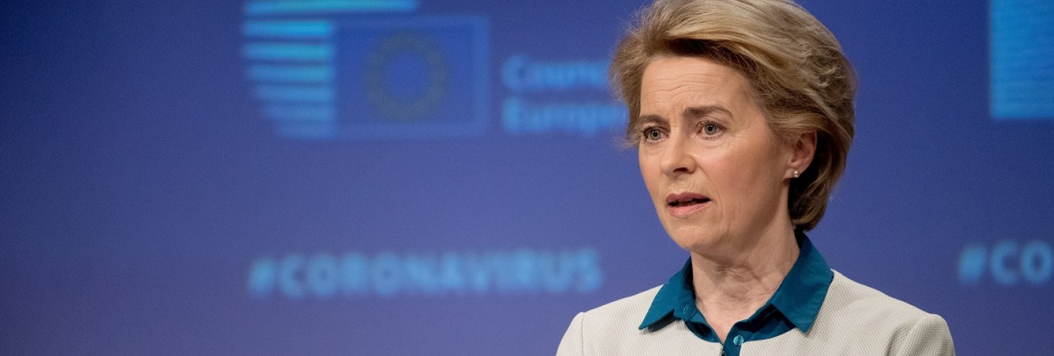 EU Commission President Ursula von der Leyen said she would welcome China's co-operation in investing the origins of the coronavirus pandemic. Source: picture alliance/Photoshot