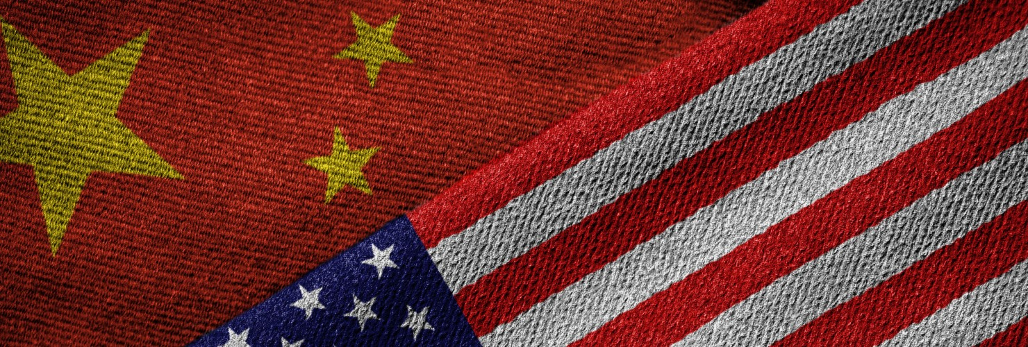 Flags of China and the United States