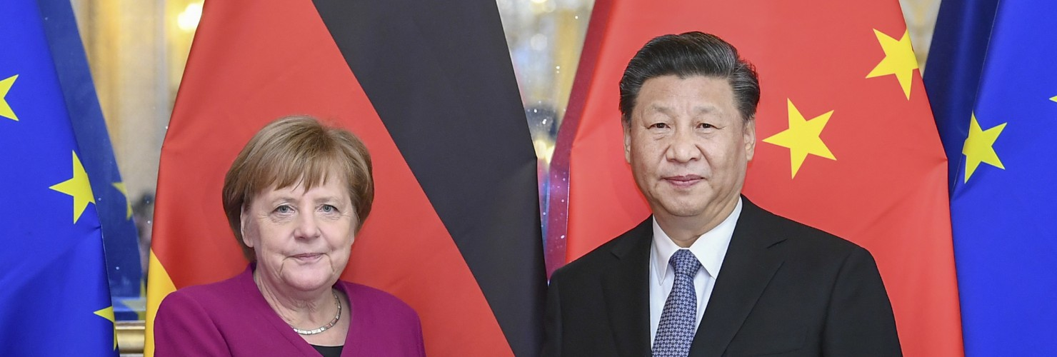 Angela Merkel and Xi Jinping