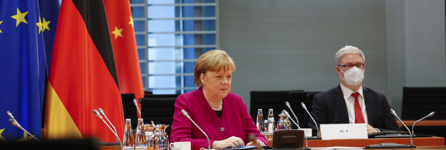 Chancellor Merkel at the virtual Sino-German Government Consultations