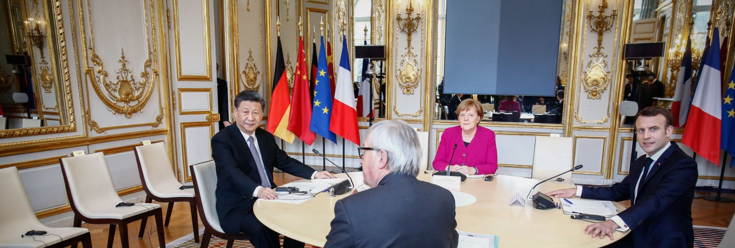 Xi Jinping with the leaders of France, Germany and the European Commission, March 2019