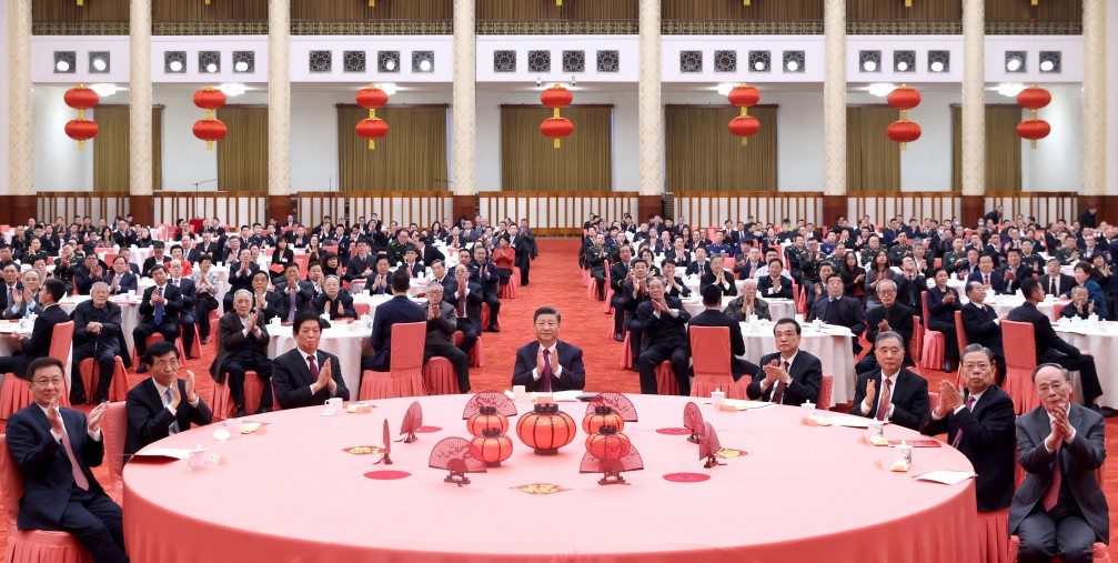 Chinese Lunar New Year reception at the Great Hall of the People in Beijing