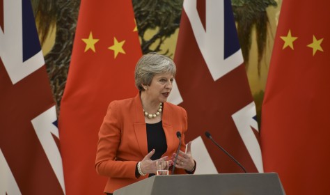 Prime Minister Theresa May arrives in China, at the start of a three day visit to the country.