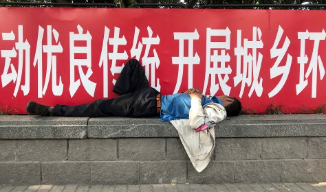 Migrant worker in Beijing on 7 June 2020