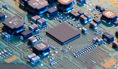 Close-up of a semiconductor