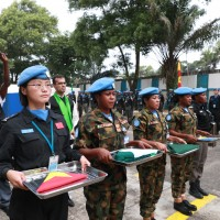 UN Peace Keeping soldiers from China in Liberia