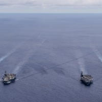 US Navy Aircraft Carriers Resume Dual Exercises - South China Sea