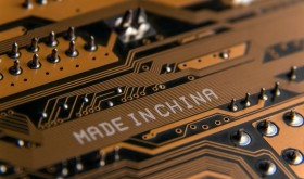 A circuit board with a Made in China caption