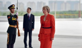 British Prime Minister Theresa May visiting China