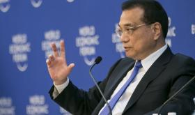 China's premier Li Keqiang at the World Economic Forum 2018