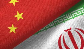China and Iran flags