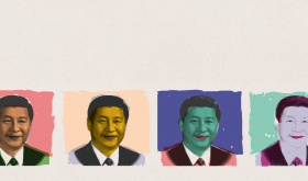 Portraits of Xi Jinping in Warhol fashion